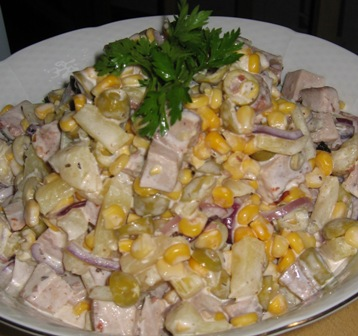 Салаты из свиного мяса с фото